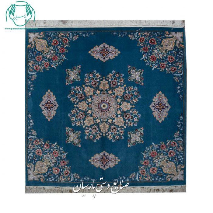 گالری فرش دستبافت اصفهان کف ساده مربع جنس کرک ابریشم اصفهان
