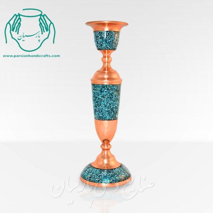 قیمت فروش شمعدان فیروزه کوبی بزرگ اصفهان