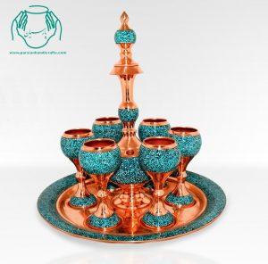 قیمت فروش سرویس شراب خوری فیروزه کوبی اصفهان