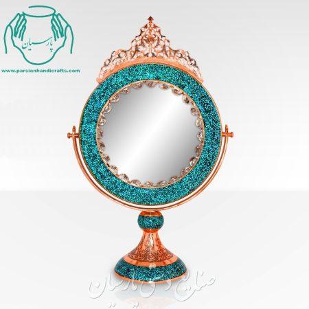 قیمت فروش آینه گرد بزرگ فیروزه کوب اصفهان