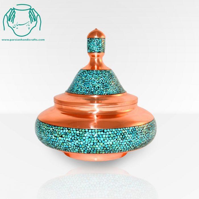 قیمت فروش بشقاب پرنده دست ساز فیروزه کوبی بزرگ اصفهان