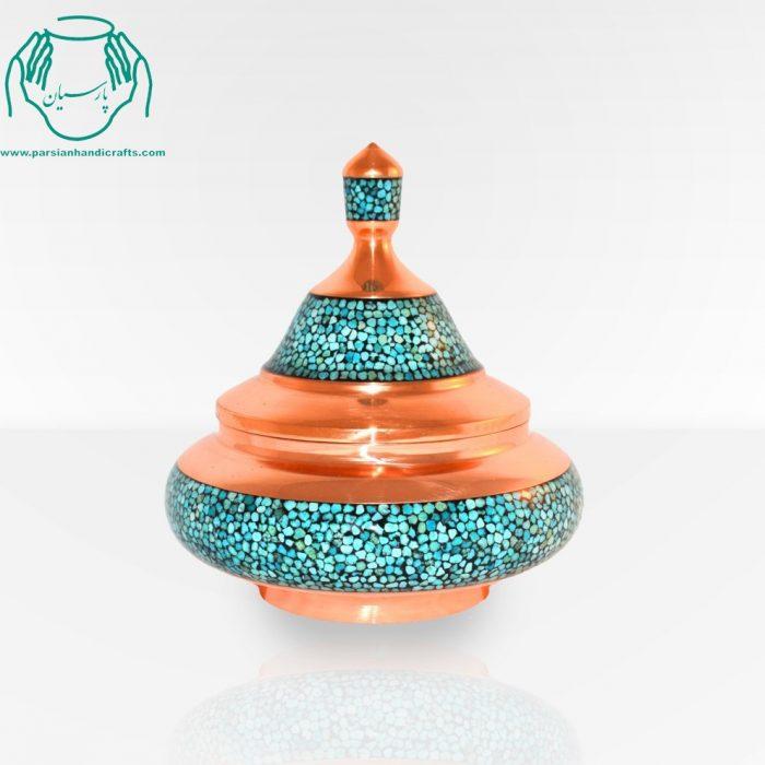 قیمت فروش بشقاب پرنده دست ساز فیروزه کوب کوچک اصفهان