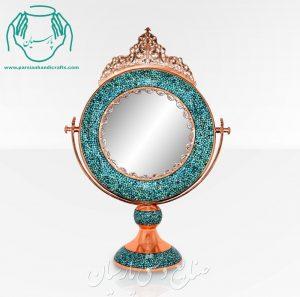 قیمت فروش آینه گرد کوچک فیروزه کوبی