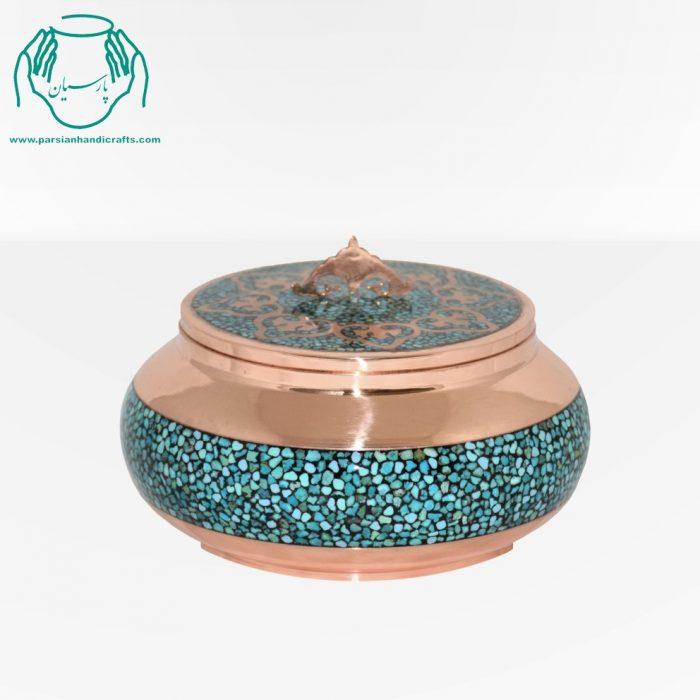 جعبه قیمت فروش جواهرات فیروزه کوبی سایز ۳