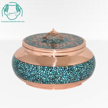 قیمت فروش جعبه جواهرات فیروزه کوبی سایز ۴