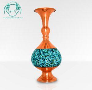 قیمت خرید فروش گلدان گیلاسی فیروزه کوب ۲۷ سانتی