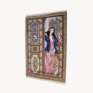 قیمت فروش تابلو فرش دستبافت تک صورت جنس کرک ابریشم اصفهان