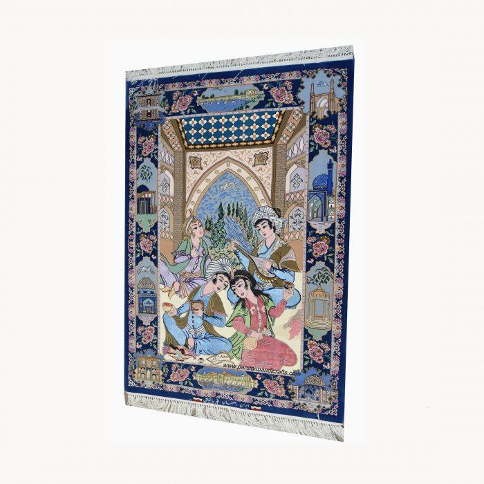 قیمت خرید فروش فرش دست بافت مینیاتوری اصفهان کرک و ابریشم