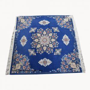 قیمت فروش فرش دستبافت اصفهان کف ساده مربع جنس کرک ابریشم