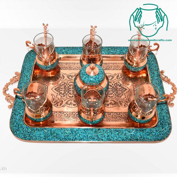 قیمت فروش سرویس چای خوری فیروزه کوبی اصفهان