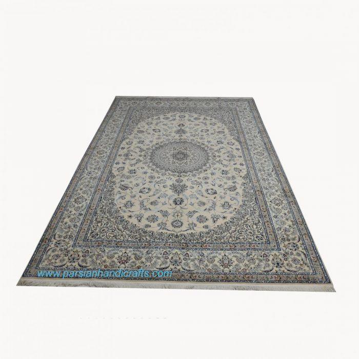 قیمت خرید فروش فرش دستباف لچک و ترنج نایین نقشه موجی اصفهان