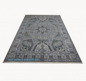 قیمت خرید فروش فرش دستبافت نایین اصفهان نقشه سقفی دایره ای 6 متری