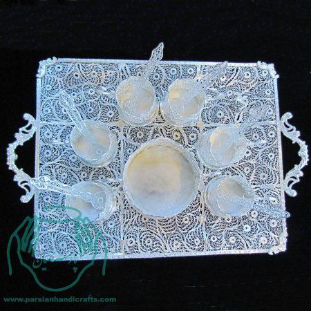 سرویس چای خوری ملیله کیفیت اعلی ۱۴ تیکه اصفهان