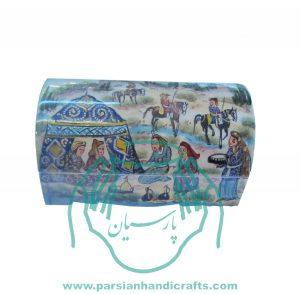 قیمت فروش جعبه استخوانی جواهرات نقاشی عشایر