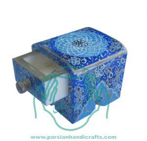 جعبه استخوانی فندقی استخوانی کشو دار نقاشی شده