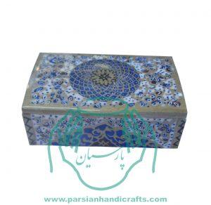 قیمت فروش جعبه استخوانی جواهرات کبریتی بزرگ نقاشی تذهیب