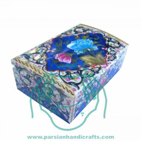 جعبه جواهرات کبریتی آبی استخوان شتر بزرگ