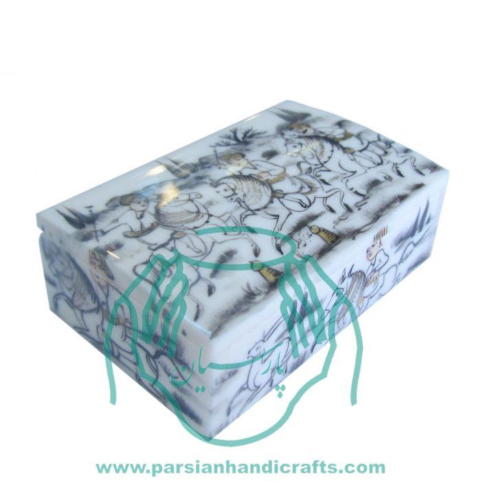 قیمت خرید فروش جعبه جواهرات کبریتی بزرگ استخوانی نقاشی