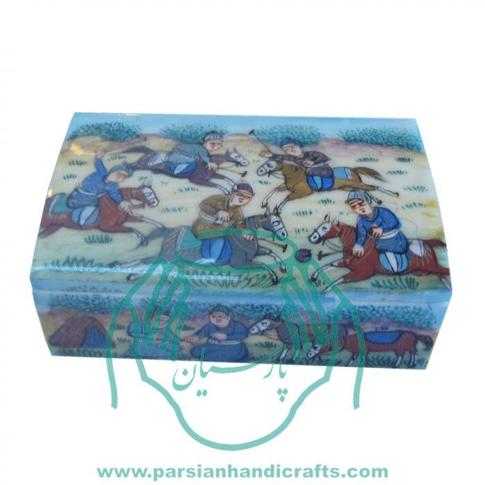 قیمت فروش جعبه جواهرات کبریتی استخوانی نقاشی مینیاتور