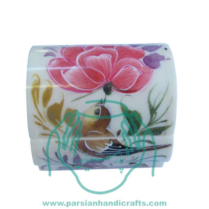 قیمت فروش جعبه استخوانی گل و مرغ نقاشی اصفهان