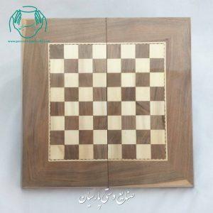 تخته نرد و شطرنج ۵۰ سانتی چوب گردو (طرح سنندج)