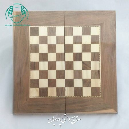 فروش آنلاین تخته نرد و شطرنج 50 سانتی چوب گردو (طرح سنندج)