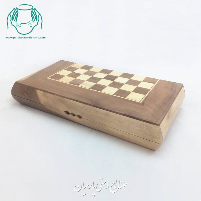 فروش تخته نرد شطرنج چوب گردو طرح سنندج