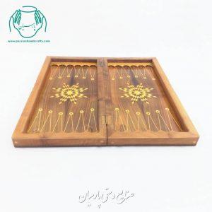 تخته نرد و شطرنج  ۵۰ سانتی چوب گردو (طرح گلپایگان)