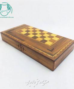 تخته نرد چوب گردو شطرنج طرح گلپایگان