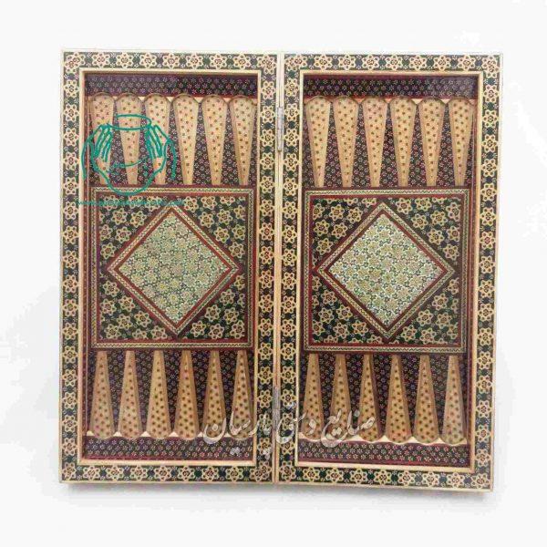 فروش تخته نرد خاتمکاری  نخته شطرنج خاتم کاری اصفهان  قیمت تخته نرد