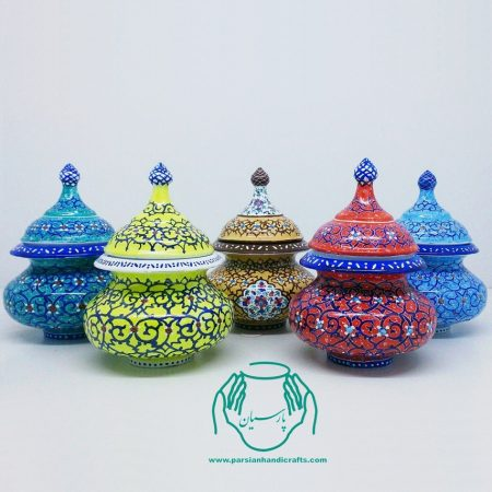 فروش قندان مینا کاری مینیاتوری اصفهان