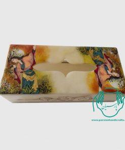 جعبه دستمال کاغذی زن وآهو 11*22