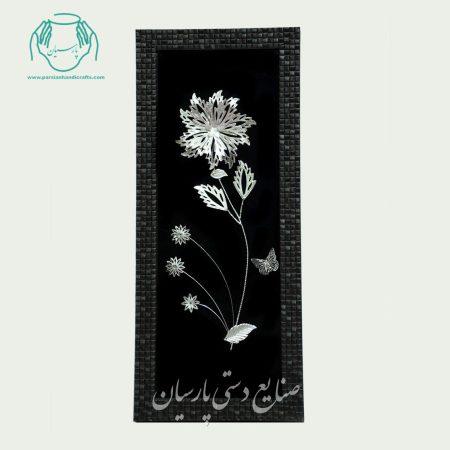 قاب گل نقره