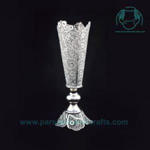 فروش اسنترنتی گلدان ملیله نقره عیار 84 درصد