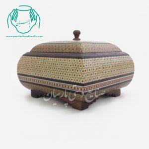 قیمت فروش شکلات خوری چهار گوش خاتم کاری اصفهان دست ساز