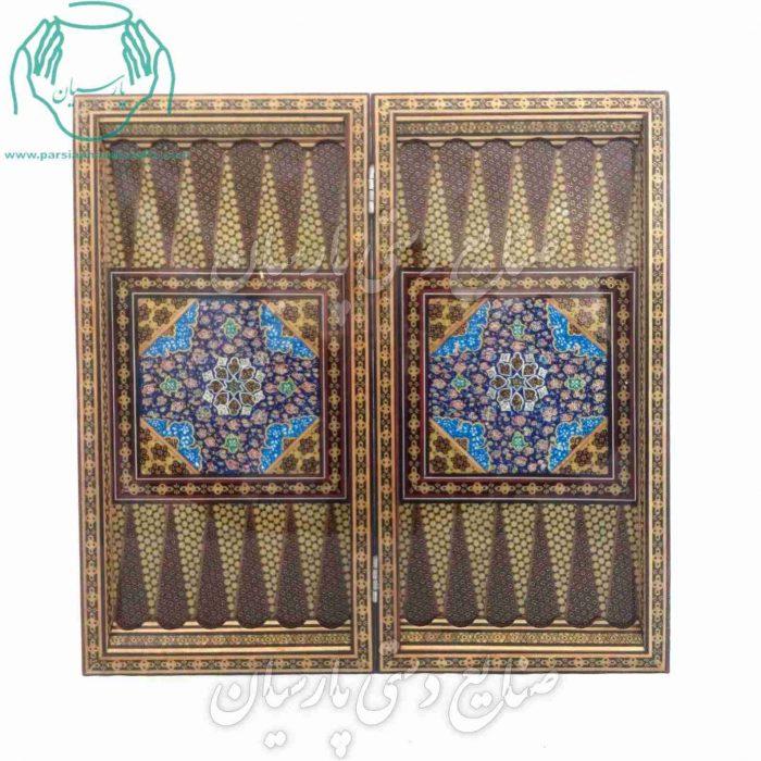 فروشگاه فروشگاه اینترنتی تخته نرد خاتم کاری اصفهان  قیمت تخته نرد و شطرنج خاتمکاری