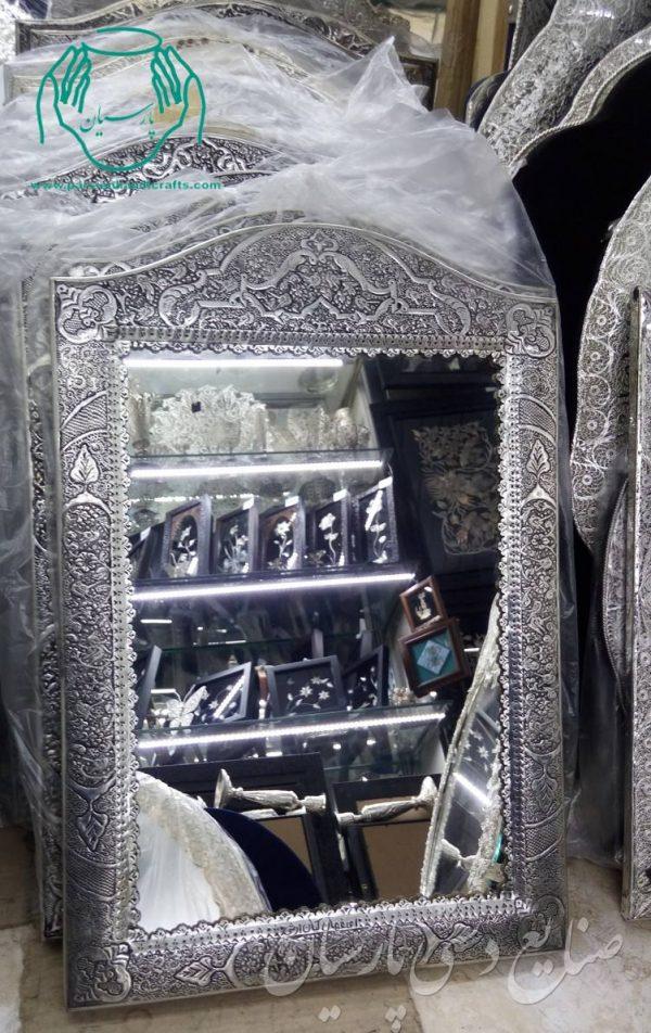 قیمت فروش آینه و شمعدان نقره قلم زنی