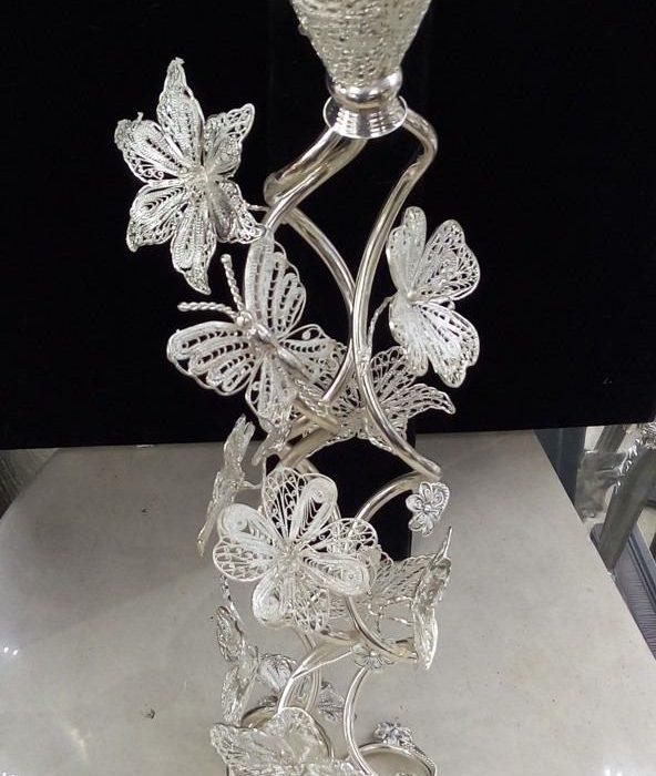 فروش شمعدان ملیله مارپیچ گل
