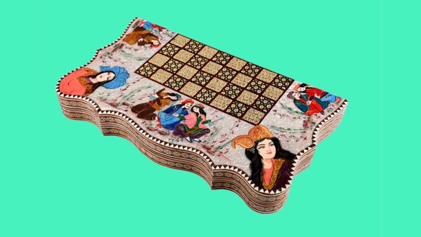 تخته نرد شطرنج خاتم کاری اصفهان