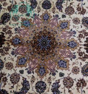 جفت فرش دستباف اصفهان ۶ متری دو کف ابریشم