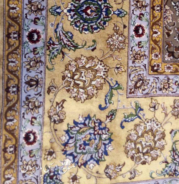 قیمت جفت فرش دستباف اصفهان 6 متری دو کف ابریشم