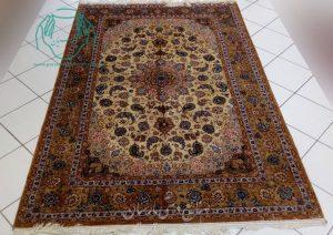 قیمت فروش جفت فرش دستبافت اصفهان 6 متری دو کف ابریشم