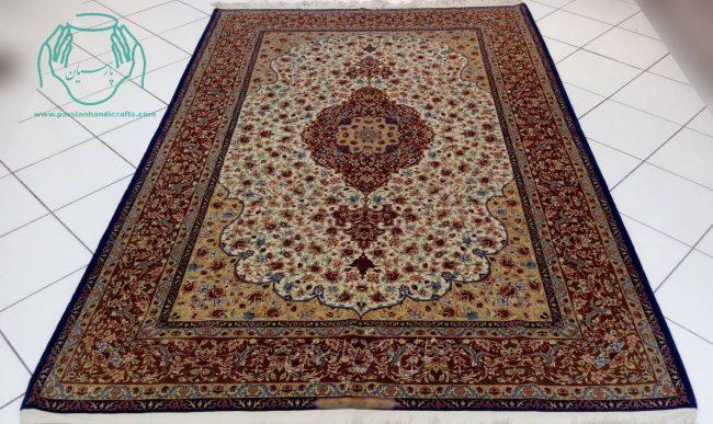 قیمت جفت فرش دستبافت کف ابریشم اصفهان