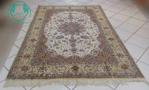 قیمت جفت فرش دستبافت تمام ابریشم اصفهان 6 متری