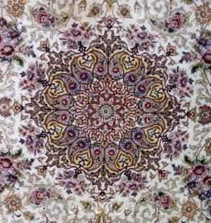جفت فرش دستباف تمام ابریشم  اصفهان ۶ متری