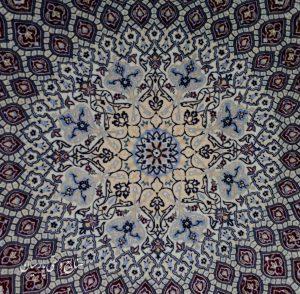 فرش دستباف پرده ای نایین طرح گنبد