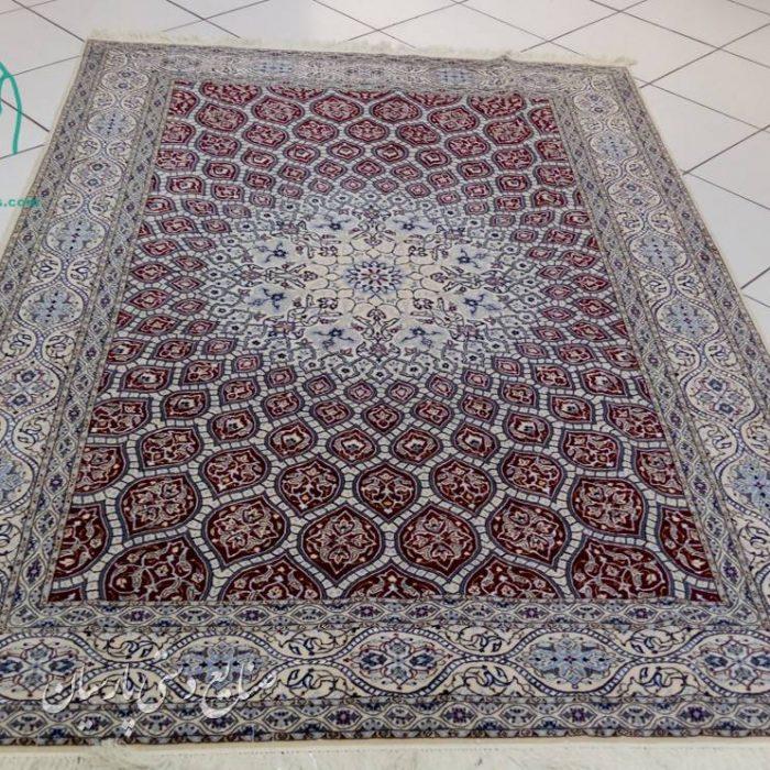 قیمت فروش فرش دستبافت پرده ای نایین طرح گنبد 5 متری