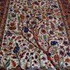 قیمت قالیچه دو کف ابریشم اصفهان نقشه درخت