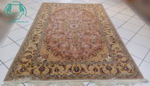 جفت فرش دستباف کرک ابریشم اصفهان