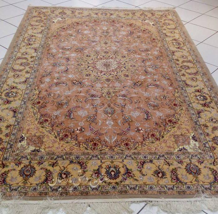 قیمت جفت فرش دستباف کرک ابریشم اصفهان